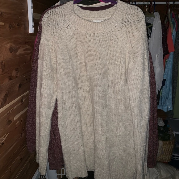 Cooperative Sweaters - Oversized cream cable knit sweater